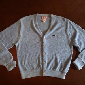 Vintage Izod Lacoste Blue Cardigan